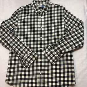 NWOT 14th & Union black/white plaid flannel shirt
